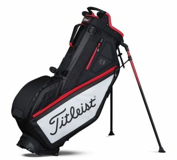 Players 4 Stand Golf Bag - Black/White/Red-4036807
