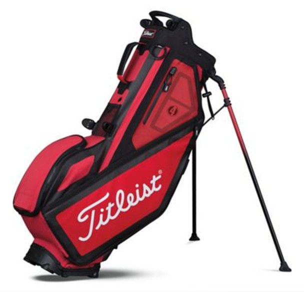 Players 4 Stand Golf Bag - Red/Black-4036812