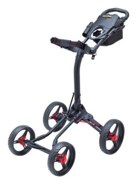 Quad XL Push Cart - Matte Black/Red-4036821
