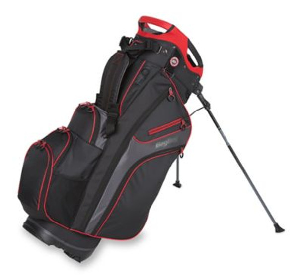 Chiller Hybrid Golf Stand Bag - Black/Charcoal/Red-4036827