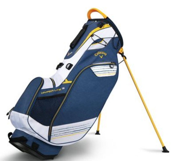 Hyper Lite 3 Stand Bag - Navy/White/Gold-4036872