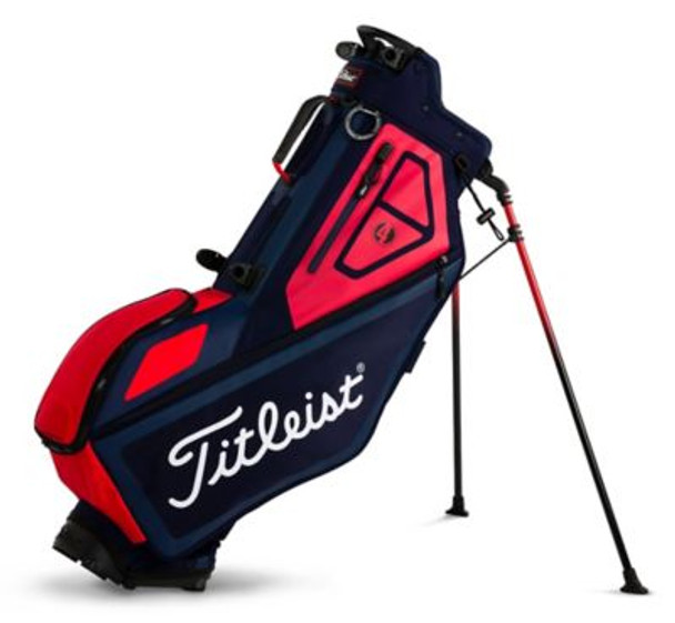 Players 4 Stand Golf Bag - Navy/Red-4036901