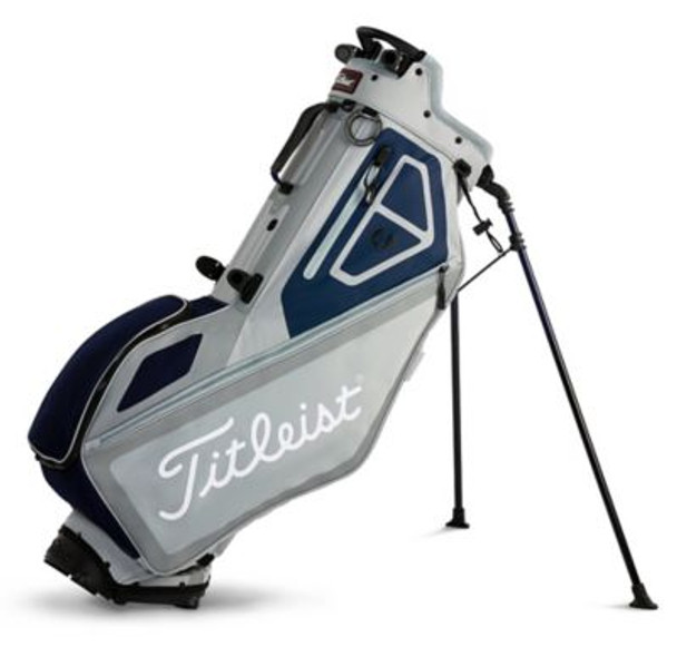 Players 4 Stand Golf Bag - Silver/Navy-4036902