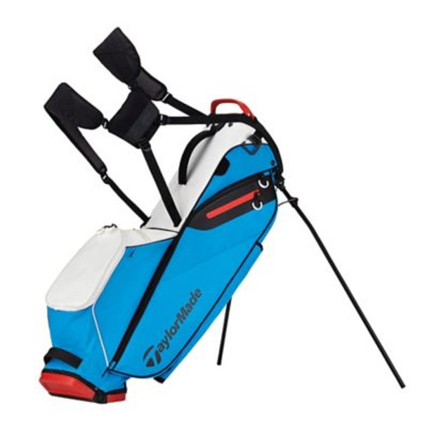 Flextech Lite Stand Golf Bag - White/Blue/Red-4036912