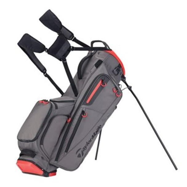 Flextech Stand Golf Bag - Gray/Red-4036913