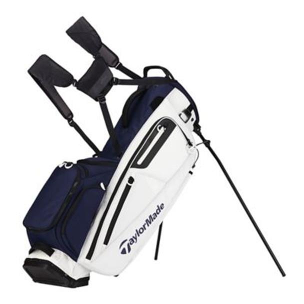 Flextech Stand Golf Bag - Navy/White-4036914