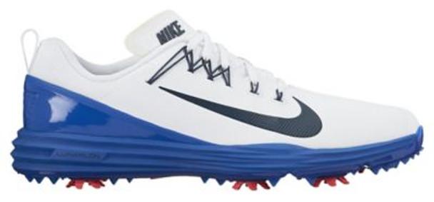 Lunar Command 2 Men's Golf Shoes - White/Navy-4036963