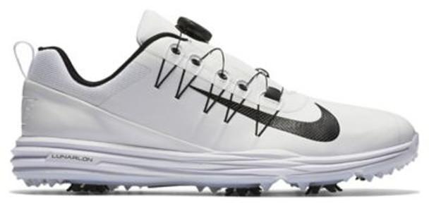 Lunar Command 2 Men's BOA Golf Shoes - White/Black/White-4036970