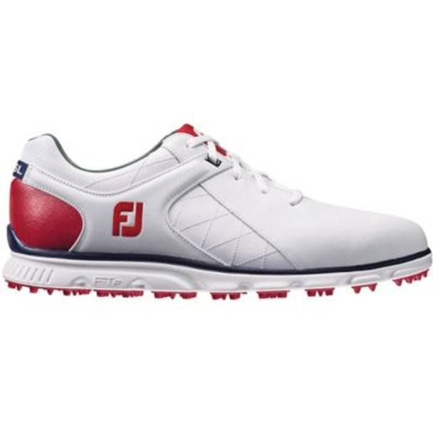 Pro SL Men's Golf Shoes - White/Red/Navy-4037010
