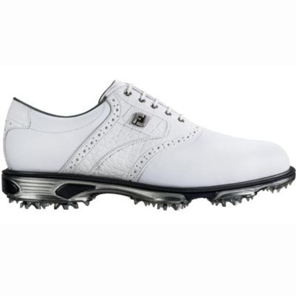 Dryjoys Tour Men's Golf Shoes - White/White Croc-4037021
