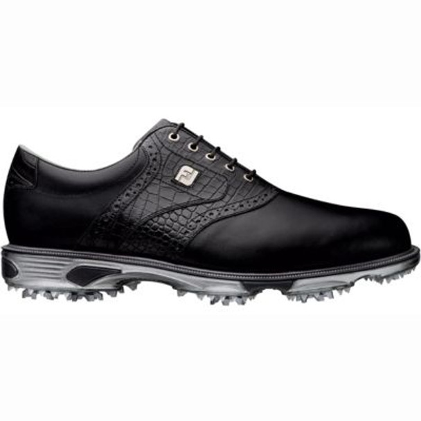 Dryjoys Tour Men's Golf Shoes - Black/Black Croc-4037022