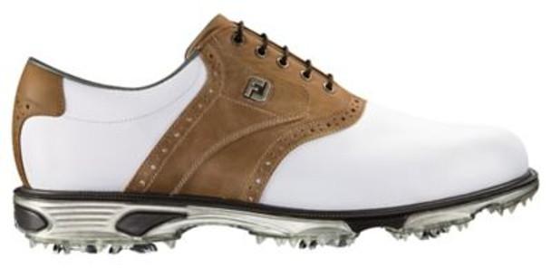 Dryjoys Tour Men's Golf Shoes - White/Taupe Bomber-4037023