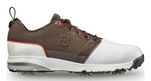 Contour Fit Men's Golf Shoes - White/Brown-4037025