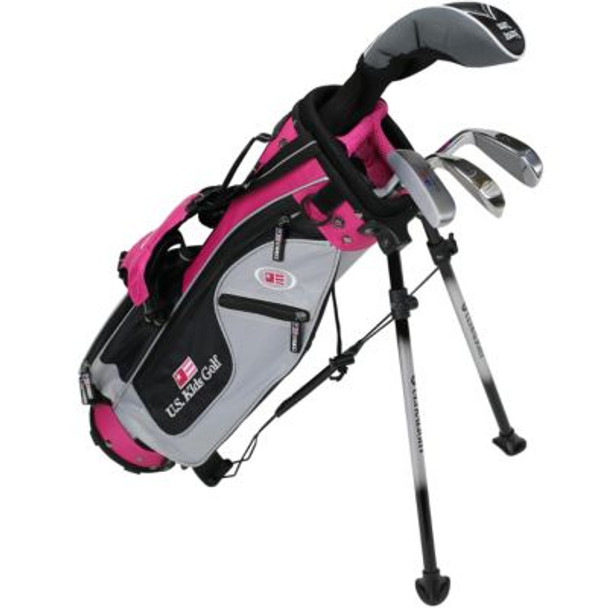 Golf UL42-u 4 Club Stand Set - Silver/Black/Pink Bag-4037169