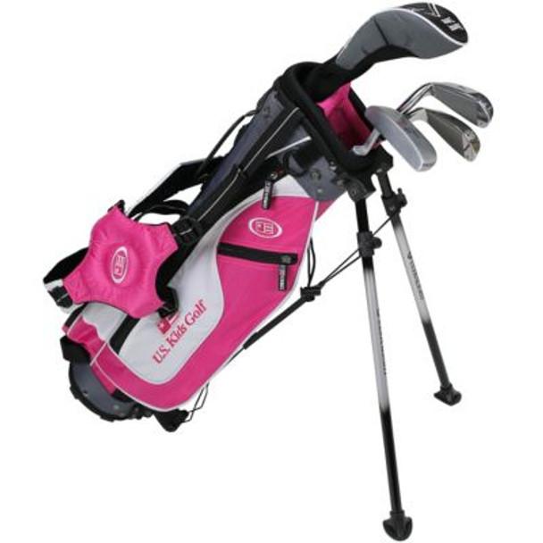 Golf UL45-u 4 Club Stand Set - Pink/Black/Grey Bag-4037171