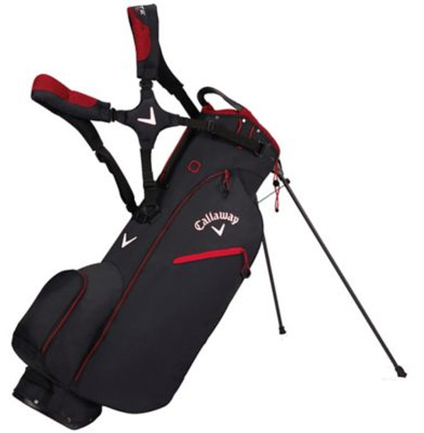 Hyper-Lite Zero Stand Golf Bag - Black/Red/White-4037233