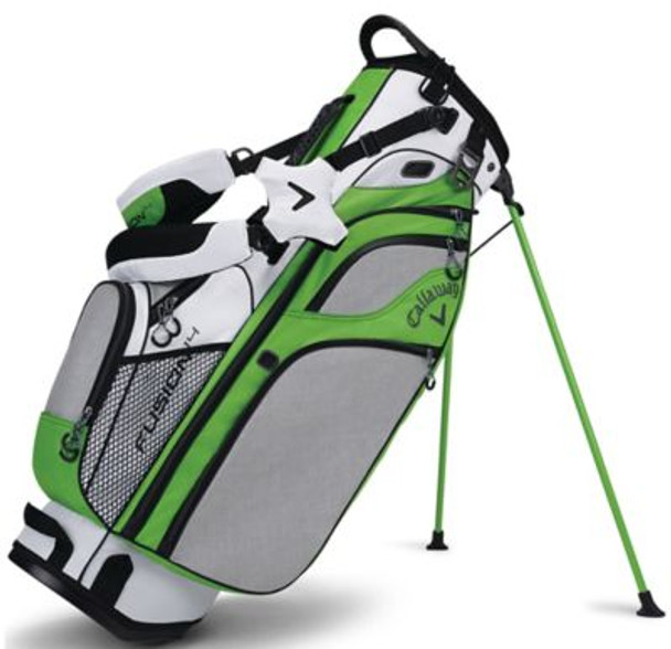Fusion 14 Stand Golf Bag - White/Acid Green/Black-4037234