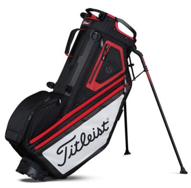 Players 14 Stand Golf Bag - Black/White/Red-4037252