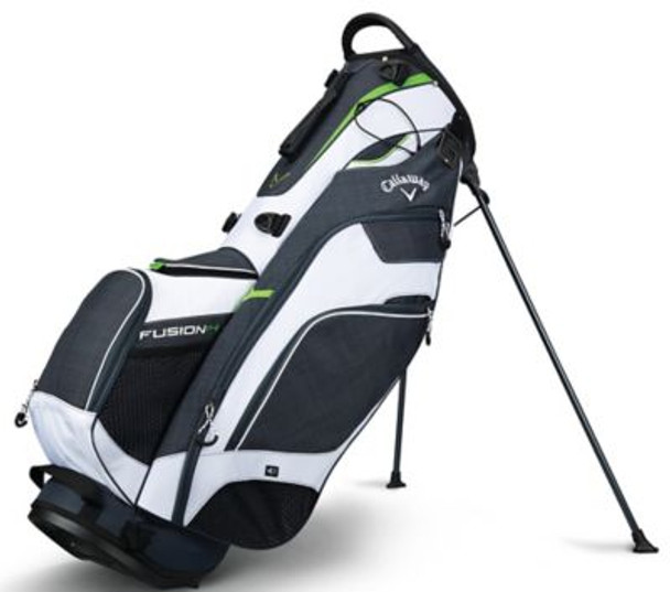 Fusion 14 Stand Bag - Titanium/White/Acid Green-4037289