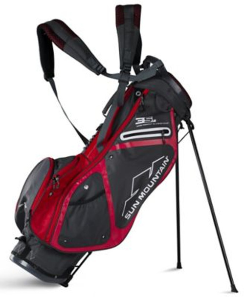3.5 LS Golf Stand Bag - Gunmetal/Red-4037307