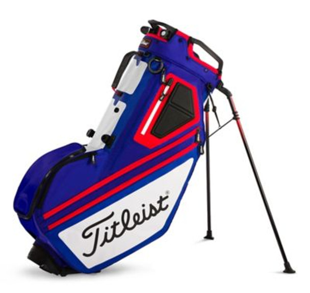 Players 14 Stand Golf Bag - Midnight/Nimbus Cloud/Red-4037318