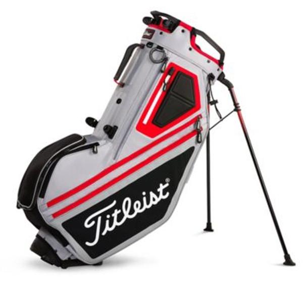 Players 14 Stand Golf Bag - Sleet/Black/Red-4037320