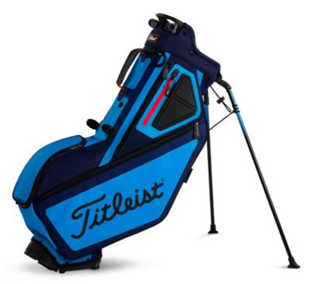 Players 5 Stand Golf Bag - Navy/Light Blue/Red-4037322