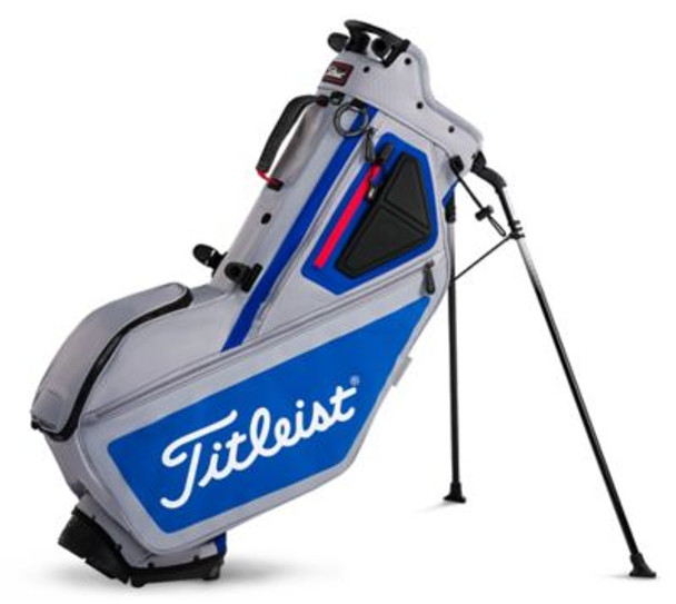 Players 5 Stand Golf Bag - Sleet/Blue/Red-4037323