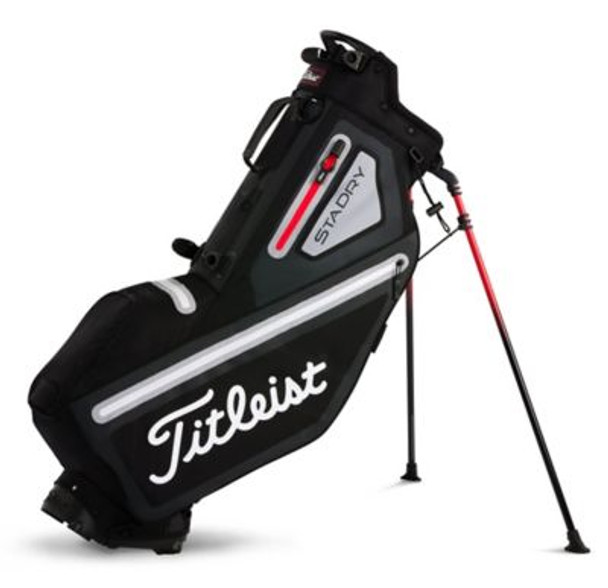 Players 4 StaDry Stand Golf Bag - Black/Sleet/Red-4037325