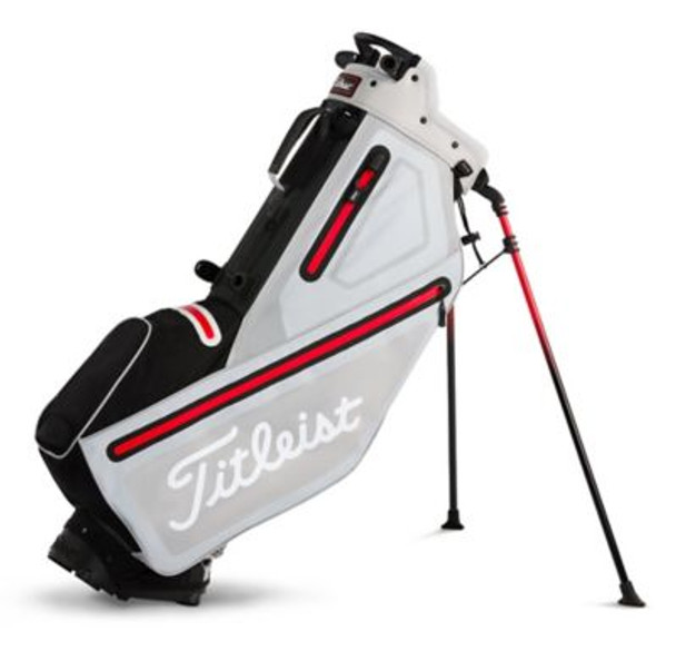 Players 4 StaDry Stand Golf Bag - Microchip/Black/Red-4037326