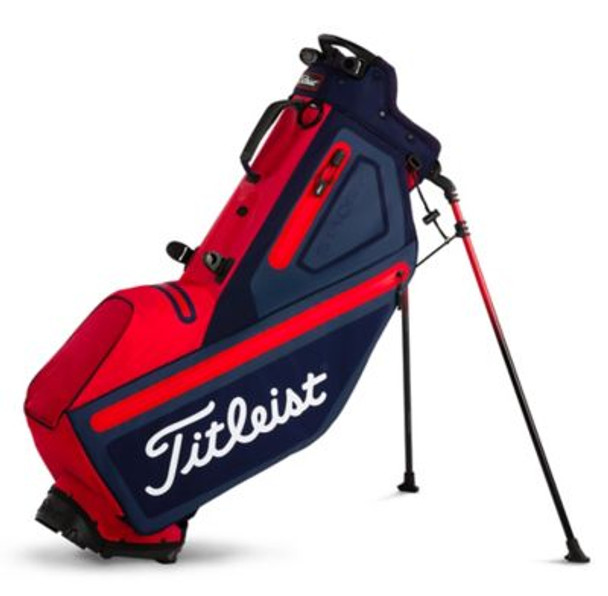 Players 4 StaDry Stand Golf Bag - Navy/Red-4037327