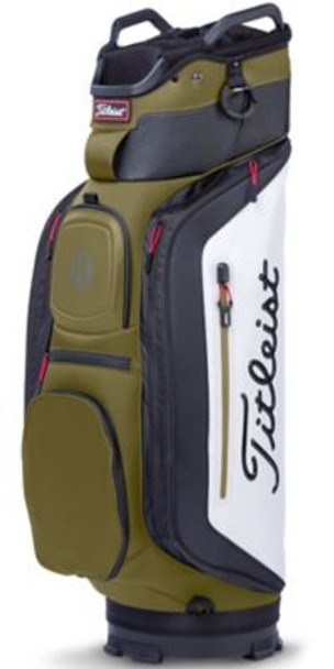 Club 14 Cart Golf Bag - Olive/White/Black-4037337