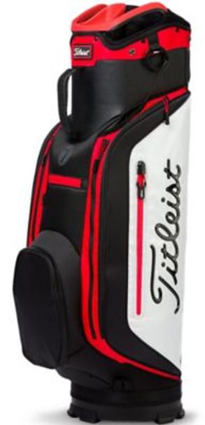 Club 7 Cart Golf Bag - Black/White/Red-4037339