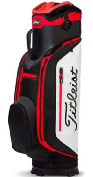 Club 7 Cart Golf Bag - Granite/Black/Red-4037341