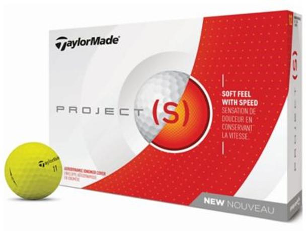 2018 Project (s) Matte Yellow Golf Balls - 1 Dozen-4037373