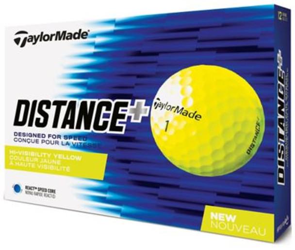 2018 TM Distance+ Yellow Golf Balls - 1 Dozen-4037376