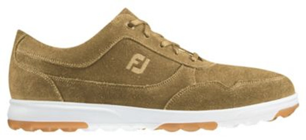 Golf Casual Men's Golf Shoes - Tan Waxed Suede-4037536