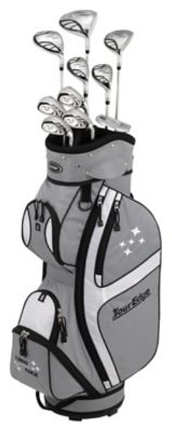 Lady Edge 2018 Silver/Black Full Box Set - Cart Bag-4037576