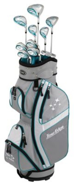 Lady Edge 2018 Silver/Teal Full Box Set - Cart Bag-4037578