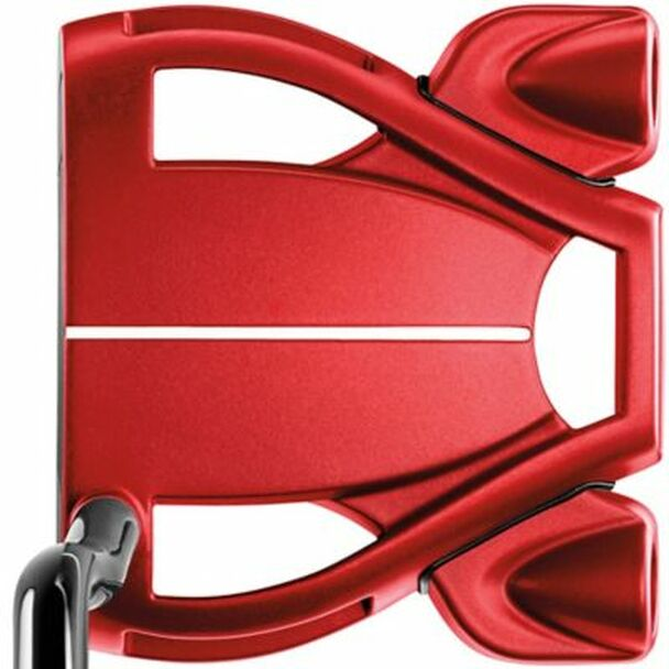 Spider Tour Red Double Bend Lined Putter-4037691