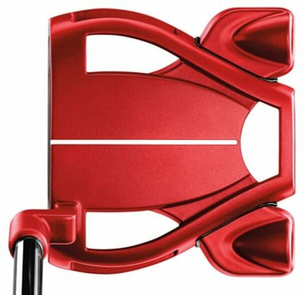Spider Tour Red L Neck Lined Putter-4037692