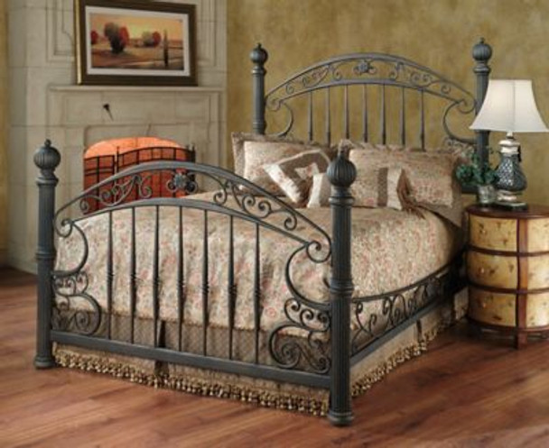 Chesapeake King Bed Set with Rails-4053595