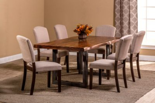 Emerson 7-Piece Rectangle Dining Set - Natural Sheesham-4054256