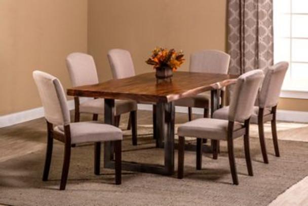Emerson 7-Piece Rectangle Dining Set - Natural Sheesham-4054256
