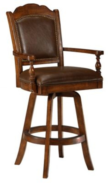 Nassau Swivel Leather Game Bar Stool-4054301