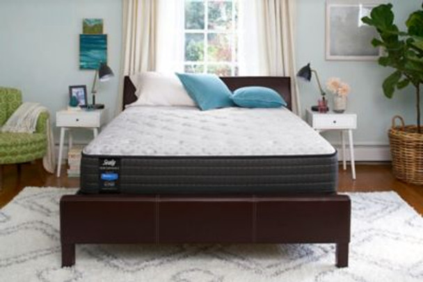 "Sealy Response Performance 11.5"" California King Plush Tight Top Mattress with 9"" High Profile Foundation Set-4065547"
