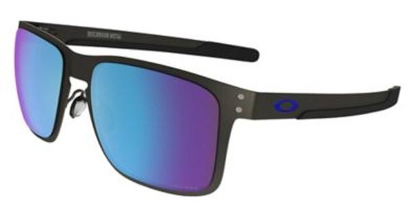 Oakley Polarized Holbrook Metal Prizm Sunglasses- Matte Gunmetal/Sapphire Iridium Polarized, size 55 frame-4147326