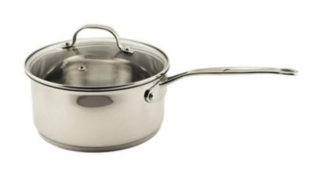 EarthChef Premium 18/10 Stainless Steel 3-Qt. Glass Covered Saucepan-4158298