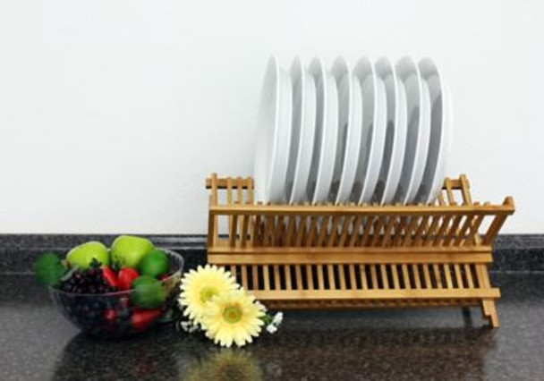 Bamboo Plate Rack-4158300