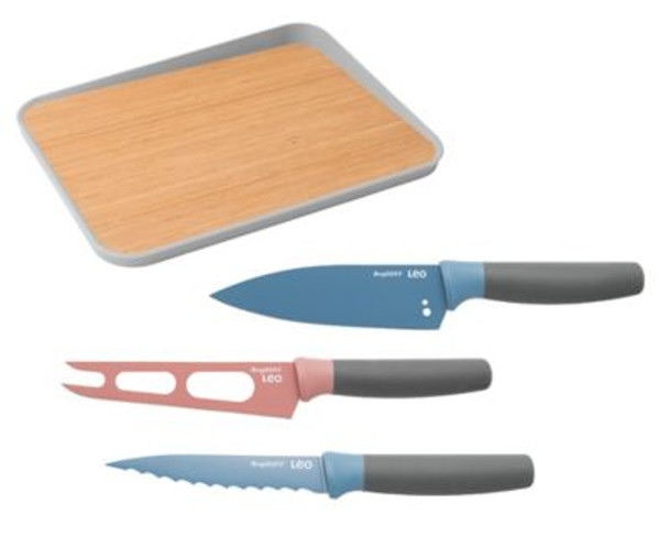 Leo 4-Piece Knife Set with Cutting Board-4158308
